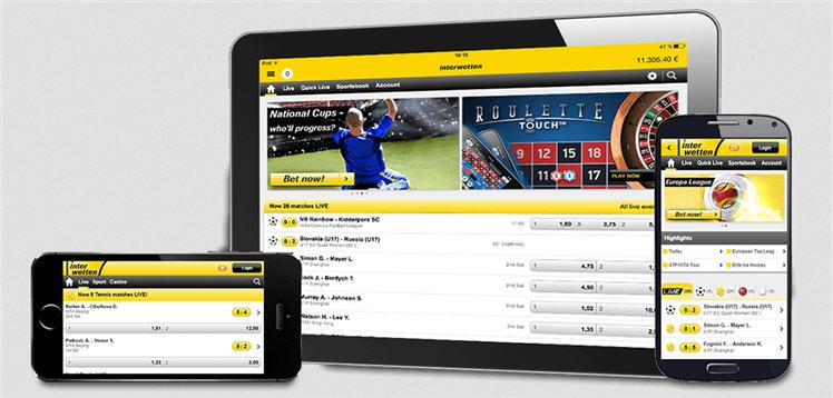 Interwetten mobile app android ios tablet