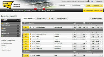 Interwetten Live Bettting