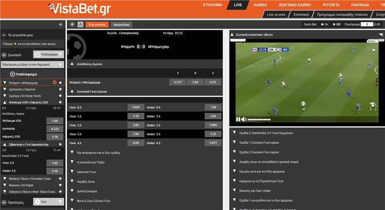 Vistabet Live Streaming