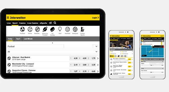 Interwetten app mobile