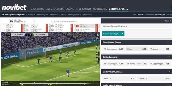 novibet virtual sports stoixima