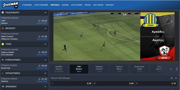 Stoiximan virtual sports