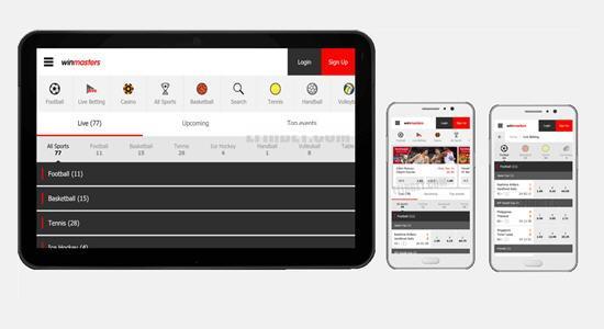Winmasters app mobile